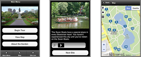 Boston Public Garden TourSphere Mobile App