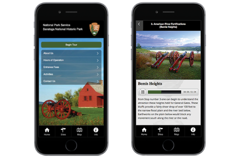 OnCell-TourSphere NPS Saratoga National Historic Park Tour App