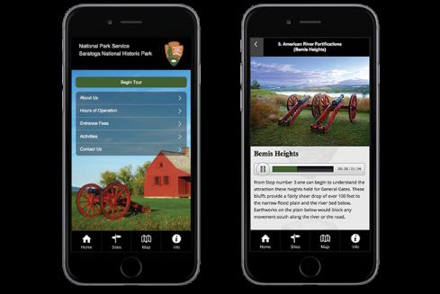 OnCell-TourSphere NPS Saratoga National Historic Park Tour App