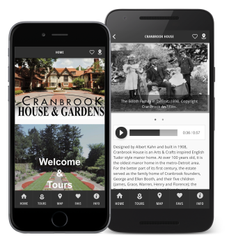 Cranbrook House and Gardens smartphone app for iOS and Android