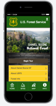 Daniel Boone National Forest Mobile App