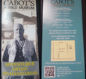 Cabot's Pueblo Museum Brochure Image